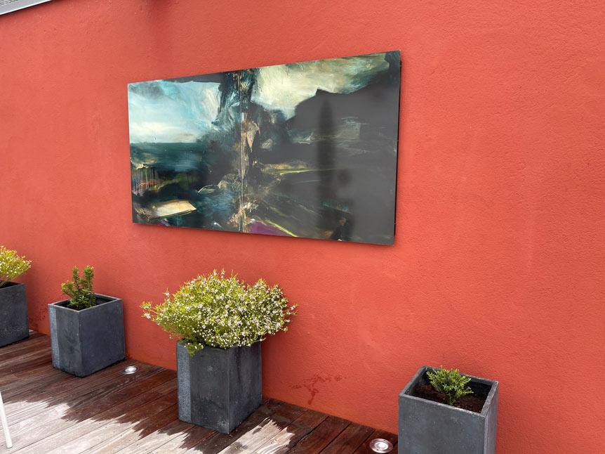 Reproduction d'un tableau en extérieur à Quimper